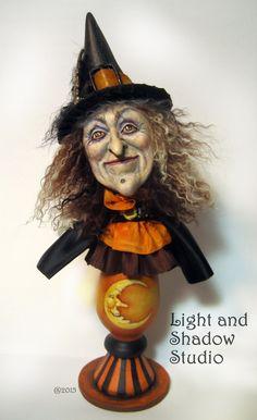 "Image of Original Witch sculpture ""Maggie Moonshine"" by artist Tammy Strum"