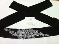 Vera Wang Sash for Sale :  wedding accessories belt black dress sash vera wang IMG 0182