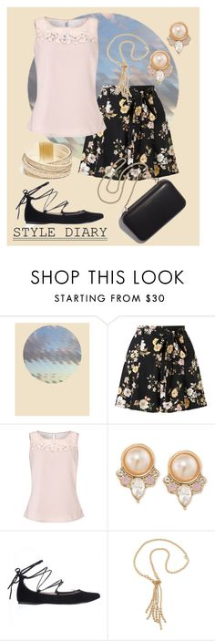 """Floral Print Shorts"" by dundiddit ❤ liked on Polyvore featuring Dowse, Miss Selfridge, Jacques Vert, Carolee, Steve Madden, Clare V., GUESS and plus size clothing"
