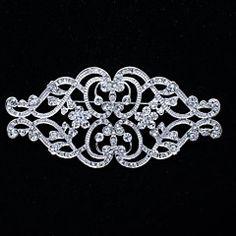 9.8cm Pretty Rhinetone with Alloy Royal tyle Brooch Pin – USD $ 9.99