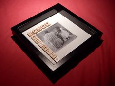 Daddy and Daughter Scrabble Art Picture Photo Frame. by AbStyleArt