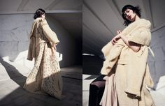 Coat / Alexandra Moura Opposite Dress / Temperley London Coat / Alexandra Moura Leggings / TFX Charli Cohen Boots / Kat Maconie X Roberta Einer