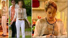 Na novela Em Família a Silvia usa a camisa da Juliana de Guerra dos Sexos