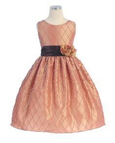 check embroidered taffeta dress