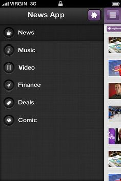 News App on Behance