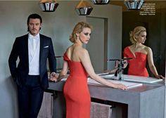 Luke Evans & Sarah Gadon, GQ magazine, Russia