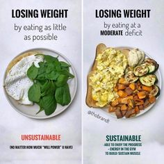 Healthy Recipes One question I get a lot is about my thoughts on low calorie diets hurting ur metabolism.⠀ -⠀ And wh - Health and Nutrition Healthy Meal Prep, Healthy Life, Healthy Snacks, Healthy Eating, Healthy Recipes, Healthy Weight, Healthy Carbs, Diet Snacks, Meal Recipes