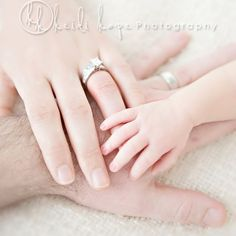 "we didn't get a ""hand-on-hand"" pic from our wedding, so this is a must do w/ babies"