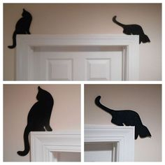 cat supplies Cat Lover Gifts Cat Silhouettes Door or Window toppers Cat gifts Cat Decor Cats Cat Lover Gifts, Cat Gifts, Cat Lovers, Photo Halloween, Vintage Halloween, Wood Crafts, Diy And Crafts, Jumping Cat, Cat Bedroom