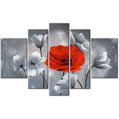 Coquelicots : touche de rouge - Coquelicots - Fleurs - Nature - Tableaux