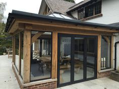 Summer Rooms and Extensions — Daniel Kursa Oak Timber Framing Specialist Extension Veranda, Orangery Extension, Cottage Extension, House Extension Design, Glass Extension, House Design, Design Design, Garden Room Extensions, House Extensions