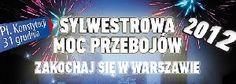 SYLWESTROWA MOC PRZEBOJÓW 2012 - Już po raz kolejny zostaliśmy organizatorem wykonawczym Sylwestrowej Mocy Przebojów - Zakochaj Się w Warszawie 2012, współorganizowanej przez Miasto Stołeczne Warszawa i Telewizję Polsat. W sylwestrową noc na Placu Konstytucji w Warszawie wystąpili m.in: Kora, Zakopower, Ewa Farna, Papa D, Kasia Kowalska Oddział Zamknięty, Big Cyc, Enej, Maciek Maleńczuk, De Mono, Afromental, Volver, Feel, Weekend, Letni Chamski Podryw i wielu innych.