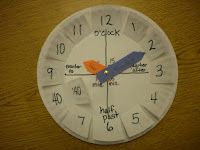 My kiddos caught onto time quickly with this handy dandy project!