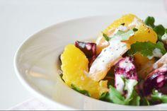 Σαλατα με παντζαρι, ροκα, εσπεριδοειδη και σως φετας - Savoir Ville Caprese Salad, Potato Salad, Salads, Potatoes, Chicken, Meat, Fruit, Ethnic Recipes, Food