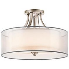"Kichler Lacey 20"" Wide Antique Pewter Ceiling Light Fixture - #U4382 