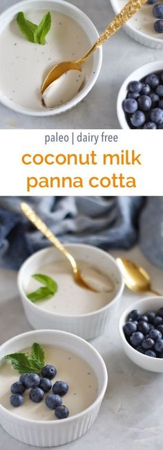Coconut milk panna cotta | Empowered Sustenance