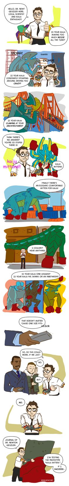 Kaiju Mittens! #PacificRim + #AlwaysSunny = <3