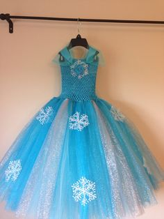 Elsa tutu dress inspired and FREE hairpiece by LittledreamsbyMayra, $50.00