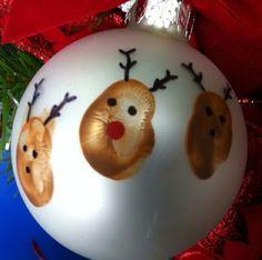 Esferas navideñas que los pequeños amarán hacer.