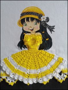 Crochet Diy, Crochet Doll Clothes, Fabric Painting, Doilies, Diy And Crafts, Applique, Crochet Patterns, Quilts, Embroidery