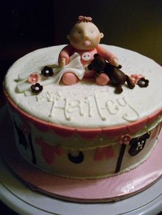 girl baby shower clothes line cake $60