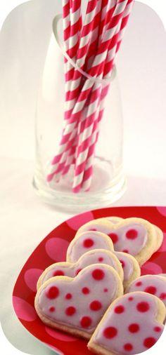 #sugarcookies #coeur  à p'tits pois