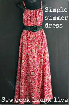 No pattern required summer dress tutorial