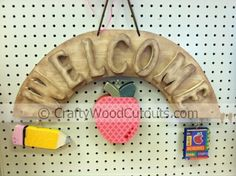 August Welcome Sign Wooden Crafts