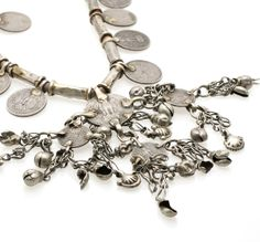 necklace India Rupee coins vintage