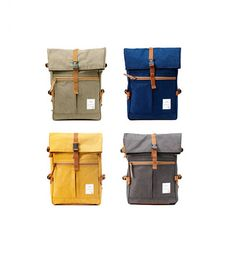 Tidy Urban Cotton Backpack Mustard by BagDoRi on Etsy