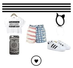 """<(-_-)>"" by dark-soul-xd on Polyvore featuring adidas and Topshop"