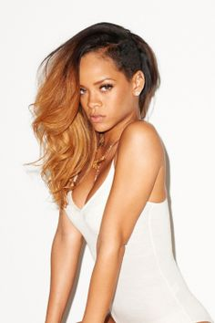 Rihanna ombre Hairstyle
