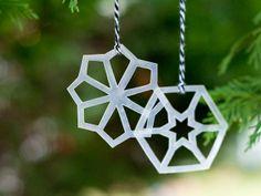 Modern Geometric Snowflake Ornaments