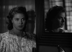 """Ingrid Bergman in """"Casablanca"""" (1942, dir. Michael Curtiz) / Cinematography by Arthur Edeson"""
