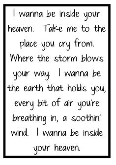 Carrie Underwood - Inside Your Heaven - song lyrics, music lyrics, song quotes, music quotes, songs