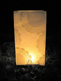 A Tale of Two Bloggers: DIY: Doily Luminaries