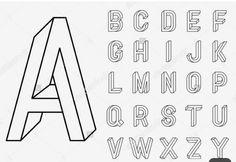 Calligraphy Handwritten Fonts Handwritten Brush Style Stock-… – Graffiti World Alphabet Design, Hand Lettering Alphabet, 3d Alphabet, Lettering Styles, Lettering Design, Calligraphy Fonts, Typography Fonts, Lettering Practice Sheets, Illusion Drawings