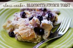 Slow Cooker Crockpot Blueberry French Toast Breakfast (with homemade syrup recipe) Copyright © QueenBeeCoupons