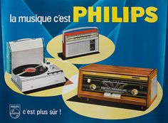 Advertising poster of Philips, Canada 1960 Affiche publicitaire de Philips, Canada 1960