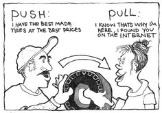 """""""Pull and stay""""'marketing strategy works very well and engages people."""
