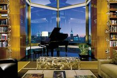 Modern Penthouse Suites at Night | ... view from the Ty Warner Penthouse Suite…