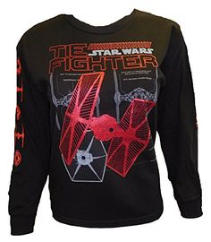 Disney Star Wars Boys Tie Fighter Long Sleeve Black XL >>> Click image to review more details.Note:It is affiliate link to Amazon.