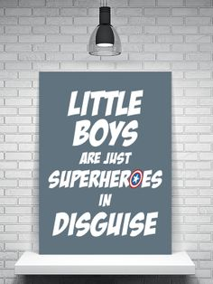 Superhero Poster, Superheroes, Comics, Gift For Boys, Nursery Art Print, Superhero Art Print, Bedroom Decor, Captain America, Superheroes