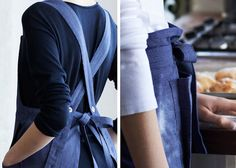 Toast's washed indigo bib apron is the kind of apron you could live in.