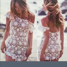 Sexy lace bathing suit cover up. New size S-M Lovely lace ladies bathing suit cover-up. Will fit US size S-M Swim Coverups