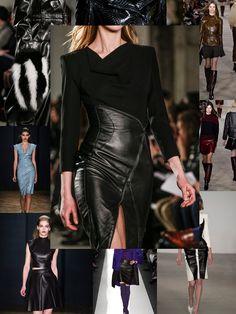 Leather dress with z
