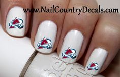 50pc Colorado Avalanche Hockey Nail Decals Nail Art Nail Stickers Best Price NC472
