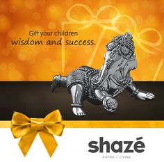 Your world revolves around your children. Their smiles and achievements make you proud.  Today, gift them this adorable Silver Bal Ganesha idol and may the Lord bless them with knowledge and victory.  For more gifting options visit www.shaze.in