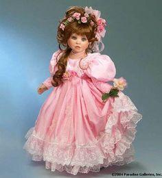 "NEW Delton Collectible 5.5/"" Pink Redhead Mini Porcelain Flower Fairy Doll NIB"