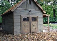 Portable Wood Shed - Standards For Convenient Systems For Wood Shed Plans - Knowded Garage Shed, Barn Garage, Garage Plans, Garage Ideas, Garage Exterior, Door Ideas, Shed Ideas, Exterior Barn Doors, Steel Garage
